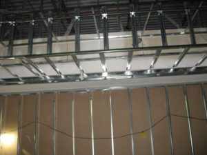 Ceiling Bulkhead And Wall Using Steel Studs Solid